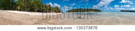 Polynesia Paradise Crystal Water Landscape