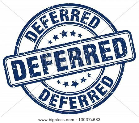 deferred blue grunge round vintage rubber stamp
