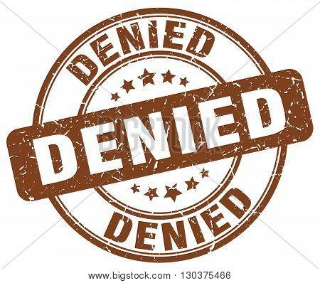 denied brown grunge round vintage rubber stamp