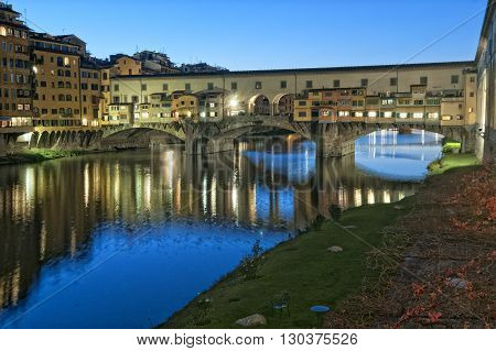 Florence view at night city scape town