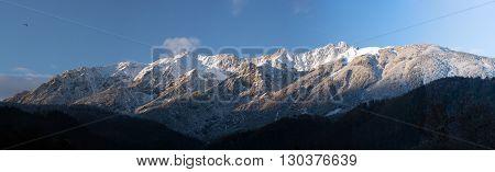 Innsbruck Mountains Landscape In Winter