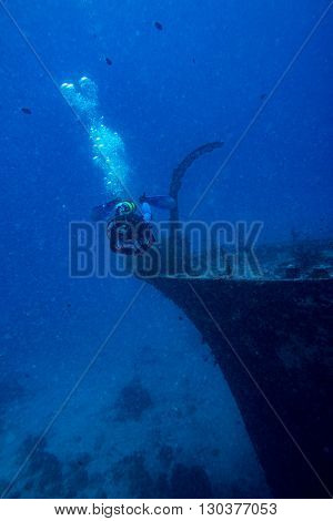Ship Wreck In Maldives