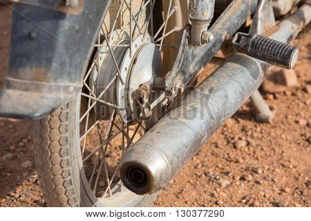 Old and rusty motorcycle, Part of motorcycle
