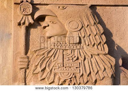 Maya Statue Close Uop Detail