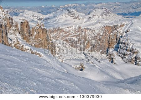 Dolomites Aerial Sky View