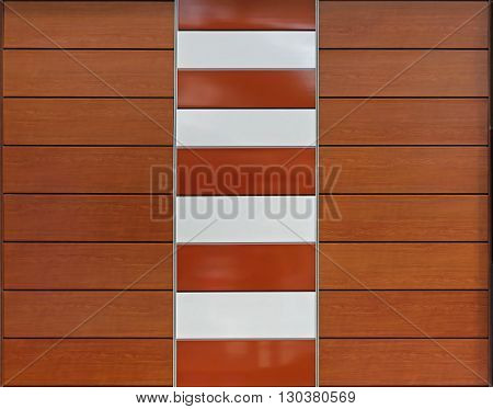 Decorative Brown Paneling With Composite Materials Background