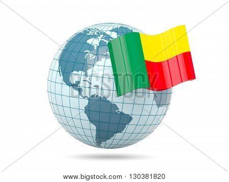 Globe With Flag Of Benin