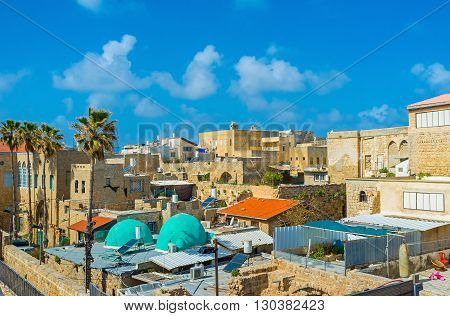 The roof is the nice viewpoint for discovering the medieval quarters of Acre Israel.
