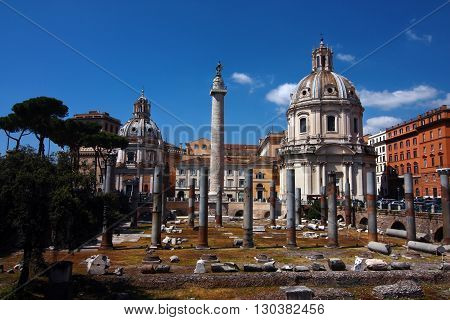 rome city italy Roman Trajan's Forum landmark architecture