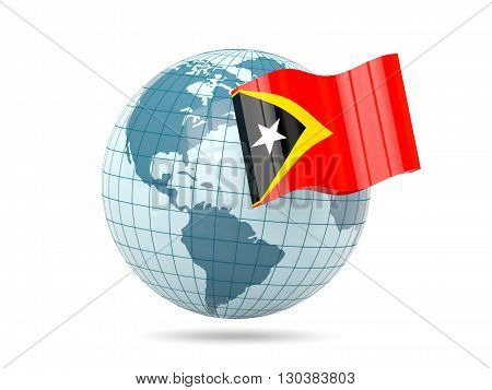 Globe With Flag Of East Timor