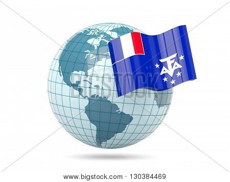 Globe With Flag Of French Southern Territories