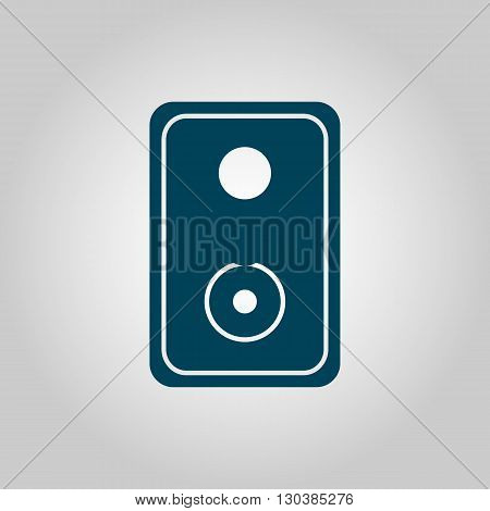 Speaker Icon In Vector Format. Premium Quality Speaker Symbol. Web Graphic Speaker Sign On Grey Back