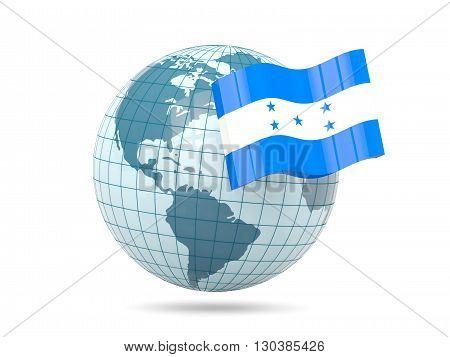 Globe With Flag Of Honduras