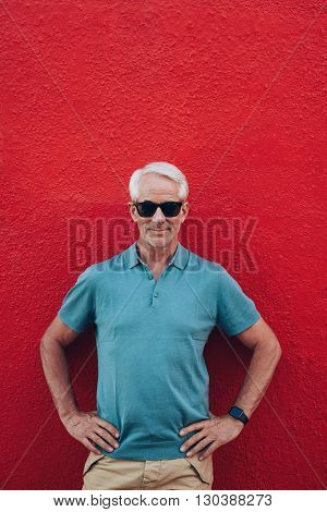 Handsome Mature Man Posing Confidently