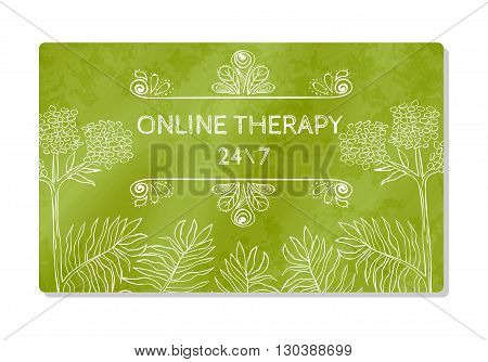 Business card or showcase online help therapy. Vector illustration