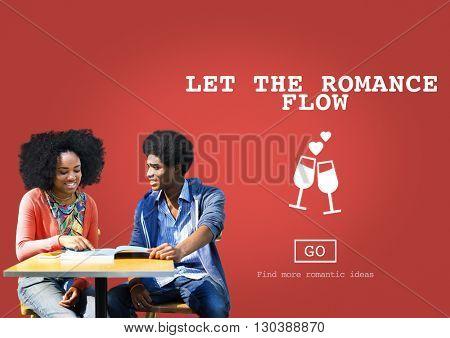 Let The Romance Flow Love Passion Valentines Concept
