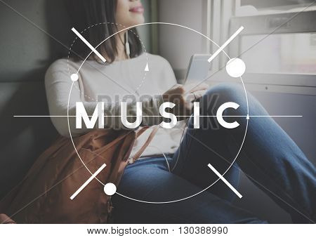 Music Instrumental Media Rhythm Entertainment Concept