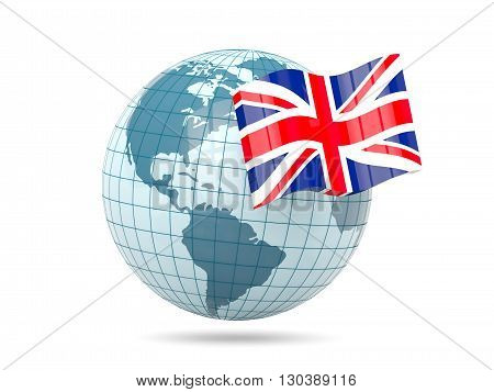 Globe With Flag Of United Kingdom