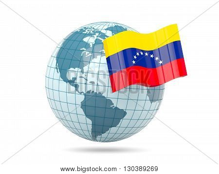 Globe With Flag Of Venezuela