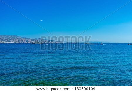 The Aqaba Gulf is the northern end of the Rad Sea that brings warm tropical climat to the popular resort Eilat Israel.