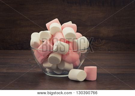 Marshmallow In Glass Bowl