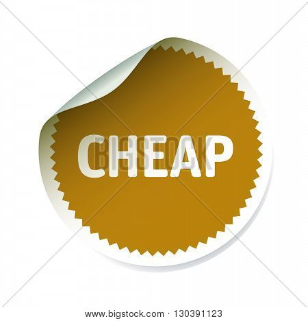 Vector Illustration and graphic element. Sticker and text CHEAP.