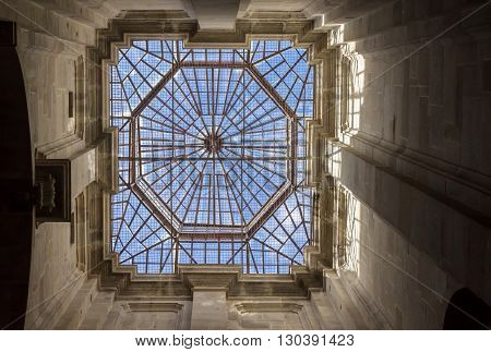 PORTO, PORTUGAL - APRIL 21, 2016: Roof of the Portuguese Center of Photography in Porto, Portugal