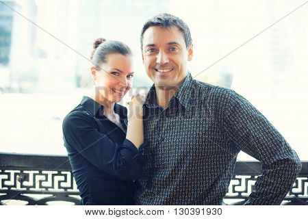 Attractive Happy Couple Outdoor