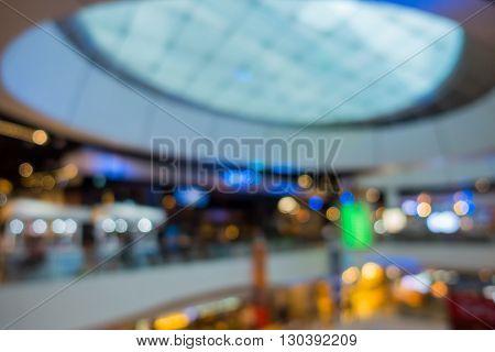 Interior blur scene in department store, Hall.