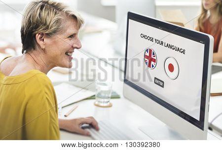 English Japanese Language Communication Concept