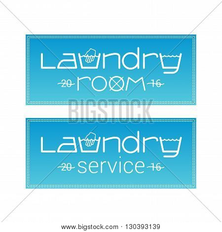 Laundry vector label template logo sign image
