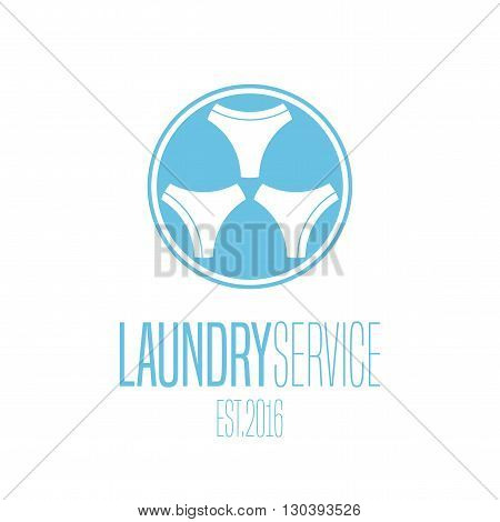 Laundry vector emblem label design element logo