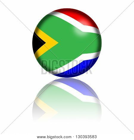 South Africa Flag Sphere