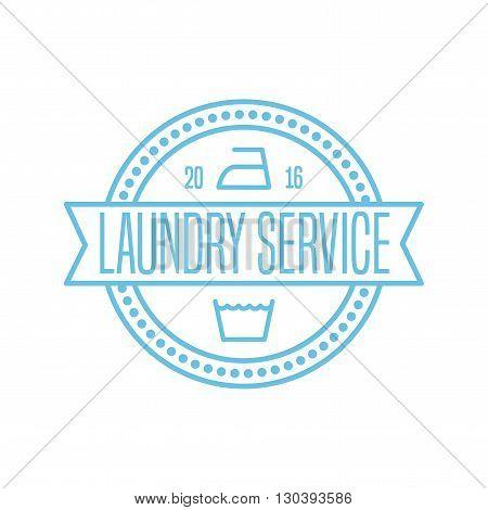 Laundry label stamp vector illustration logo sign