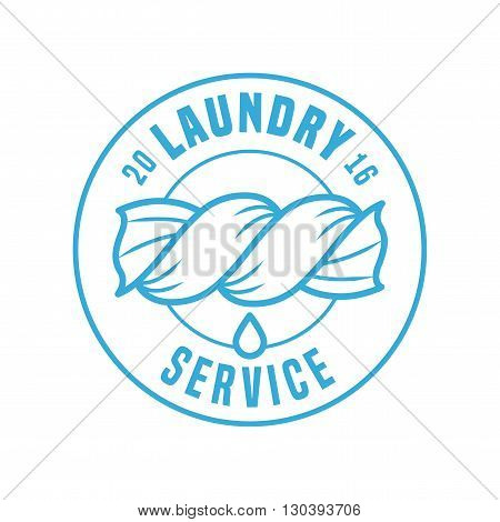 Laundry service vector template logo label sign