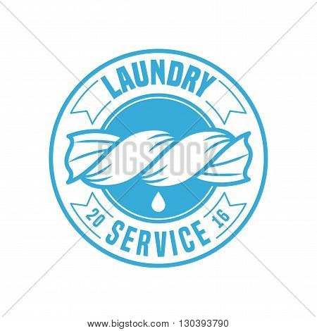 Laundry room vector template logo sign design element