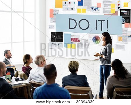 Do It Action Activity Proactive Plan Concept