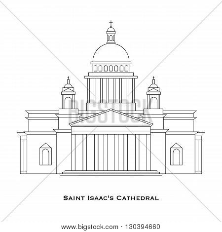 St. Petersburg - Saint Isaac's Cathedral in linear style Saint Petersburg Russia