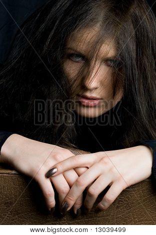 infernal brunette portrait