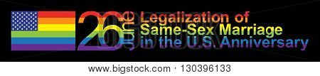 Vector banner of The legalization of same-sex marriages in the USA
