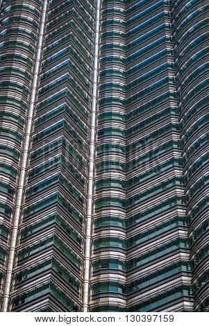 Petronas Twin Towers Detail, Kuala Lumpur