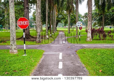 Road In Driving School