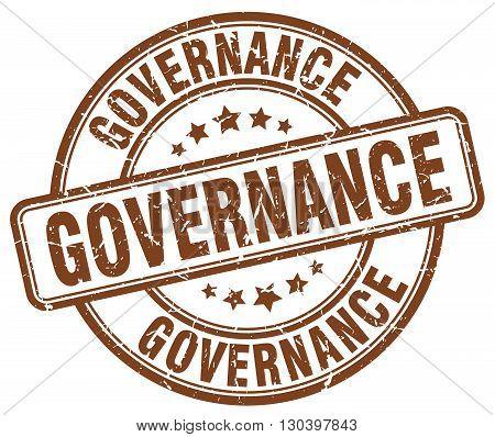 governance brown grunge round vintage rubber stamp
