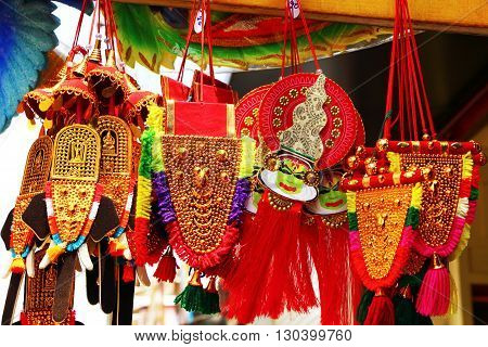Souvenir suspension South India. Small elephant decoration