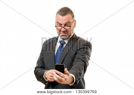 Businessman Pulling Disdainful Face
