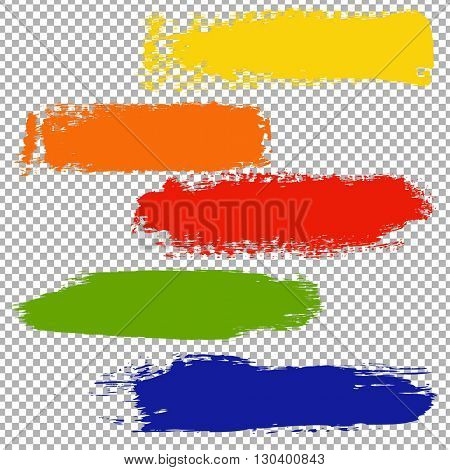 Color Blots Set, Isolated on Transparent Background, With Gradient Mesh, Vector Illustration