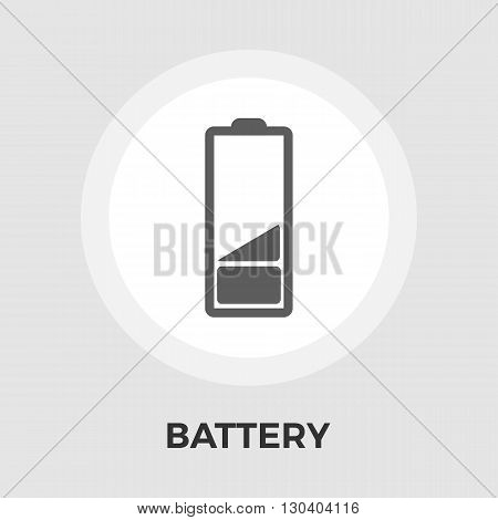Battery Icon Vector. Flat icon isolated on the white background. Editable EPS file. Vector illustration.