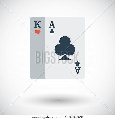 Play card. Flat vector icon for mobile and web applications. Vector illustration.
