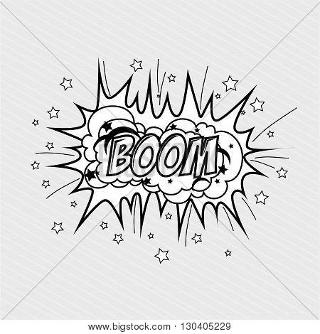explosion pop art design, vector illustration eps10 graphic