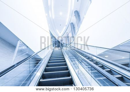 empty modern elegant escalator
